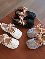 cheap -Girls' Flats Flower Girl Shoes Knit Little Kids(4-7ys) Black / Beige / Gray Summer / Fall / Rubber