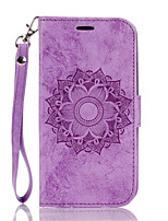 cheap -Case for  LG K10 7 8 Flip Magnetic Full Body Cases Flower PU Leather