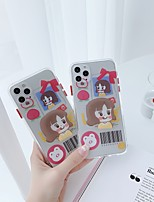 cheap -Apple Case For iPhone7 8 7plus 8plus XR XS XSMAX X 11 11Pro 11ProMax Ring Holder Pattern Back Cover Word Phrase Cartoon TPU