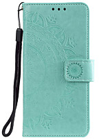 cheap -Case For Sony Xperia XZ2 XZ3 Z3 Z5 L1 L2 Card Holder Flip Pattern Full Body Cases Flower PU Leather TPU