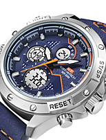 cheap -KT Men's Sport Watch Quartz Sporty Army Water Resistant / Waterproof Leather Black / Blue Analog Analog - Digital - Black Blue / Japanese / Calendar / date / day / Chronograph / Noctilucent