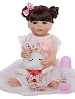 cheap -KEIUMI 22 inch Reborn Doll Baby & Toddler Toy Reborn Toddler Doll Baby Girl Gift Cute Washable Lovely Parent-Child Interaction Full Body Silicone 22D05-C248-H104-T23 with Clothes and Accessories for