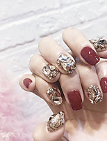 cheap -24pcs Rhinestone Jewel Covered Cases Universal Best Quality Hyperbole Fashion Daily Festival Fake Nails for Finger Nail / Jewelry Series / Romantic Series