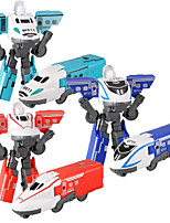 cheap -Building Toy Construction Truck Toys Train Robot Model Robot Deformation Drop-resistant Plastic Mini Car Vehicles Toys for Party Favor or Kids Birthday Gift Random Colors / Kid's