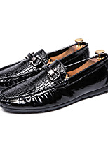cheap -Men's Summer Casual Daily Loafers & Slip-Ons Walking Shoes PU Breathable Non-slipping Wear Proof Black