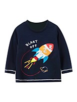 cheap -Kids Boys' Basic Geometric Print Long Sleeve Tee Blue