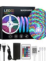 cheap -MASHANG 20M LED Strip Lights RGB Tiktok Lights Waterproof 1200LEDs Flexible Color Change 2835 with 24 Keys IR Remote Controller and 100-240V Adapter for Home Bedroom TV Back Lights DIY Deco