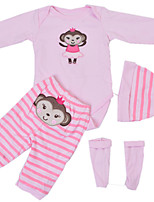 cheap -Reborn Baby Dolls Clothes Reborn Doll Accesories Cotton Fabric for 22-24 Inch Reborn Doll Not Include Reborn Doll Monkey Soft Pure Handmade Girls' 4 pcs