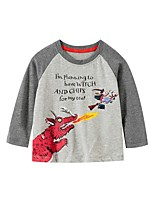 cheap -Kids Boys' Basic Dinosaur Animal Print Long Sleeve Tee Gray