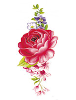 cheap -1 pcs Flower Tattoo Designs Temporary Tattoos Eco-friendly / Water Resistant / Creative Chest Paper Tattoo Stickers