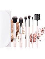 cheap -Professional Makeup Brushes 6pcs Soft Adorable Artificial Fibre Brush Plastic for Foundation Brush Lip Brush Eyebrow Brush Eyeshadow Brush Makeup Brush Set