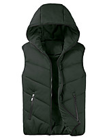 cheap -Men's Hiking Gilet Winter Outdoor Thermal / Warm Windproof Breathable Soft Top Fleece Camping / Hiking Hunting Fishing Dark Grey / Black / Light Grey / Dark Green