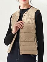 cheap -Women's Vest Solid Colored Polyester Wine / White / Black XL / XXL / XXXL