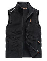 cheap -Men's Hiking Vest / Gilet Winter Outdoor Windproof Breathable Warm Top Camping / Hiking Hunting Fishing Dark Grey / Black / Army Green / Dark Blue / Camping / Hiking / Caving