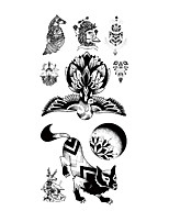 cheap -TL081-090 1 Pcs Tattoo Designs Temporary Tattoos Eco-friendly / Water Resistant / New Design brachium / Chest Paper Tattoo Stickers