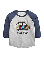 cheap -Kids Boys' Basic Geometric Print Long Sleeve Tee Gray