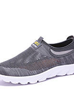 cheap -Men's Summer / Fall Casual / Preppy Daily Outdoor Loafers & Slip-Ons Mesh Breathable Non-slipping Black / Gray