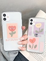 cheap -Case For Apple iPhone 11 / iPhone 11 Pro / iPhone 11 Pro Max Translucent / Pattern Back Cover Cartoon / Flower TPU