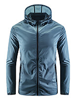 cheap -Men's Hiking Jacket Hiking Windbreaker Outdoor Windproof Sunscreen Breathable Quick Dry Jacket Top Camping / Hiking Fishing Climbing Dark Grey / White / Blue / Grey / Light Blue / Summer