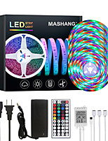 cheap -MASHANG 20M LED Strip Lights RGB Tiktok Lights Waterproof 1200LEDs Flexible Color Change 2835 with 44 Keys IR Remote Controller and 100-240V Adapter for Home Bedroom TV Back Lights DIY Deco