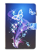 cheap -Case For Apple iPad Mini 3 2 1  iPad Mini 4  iPad Mini 5 360 Rotation  Shockproof  Magnetic Full Body Cases Word  Phrase  Butterfly  Scenery PU Leather  TPU