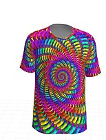 cheap -Kids Boys' Sports & Outdoors Basic Holiday Geometric Short Sleeve Tee Rainbow