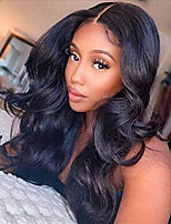 cheap -Synthetic Wig Body Wave Middle Part Wig Long Light Brown Wine Red Black Synthetic Hair 28 inch Women's Party New Arrival Fashion Black