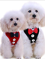 cheap -Dog Cat Pets Harness Portable Breathable Cute and Cuddly Vest Outdoor Walking Nylon Dalmatian Beagle Poodle Toy Poodle Baby Pet Small Dog Black Red 1 set