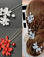cheap -Women's Hair Combs For Party Evening Engagement Party Festival Flower Imitation Pearl Alloy White Red 1pc