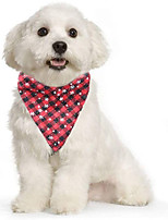 cheap -Dog Cat Bandanas & Hats Dog Bandana Dog Bibs Scarf Plaid / Check Reversible Casual / Sporty Christmas Sports Dog Clothes Breathable Costume Cotton Polyster S M