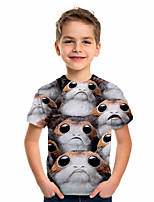 cheap -Kids Boys' Sports & Outdoors Basic Holiday Animal Short Sleeve Tee Gray