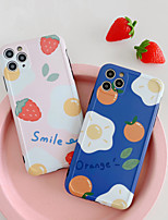 cheap -Case For Apple iPhone 7 8 7plus 8plus X XR XS XSMax SE(2020) iPhone 11 11Pro 11ProMax Shockproof Pattern Back Cover Food Cartoon TPU