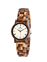 cheap -Women's Quartz Watches Quartz Modern Style Stylish Casual Water Resistant / Waterproof Wood Analog - Brown