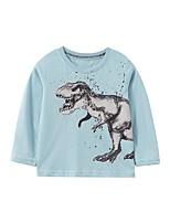 cheap -Kids Boys' Basic Dinosaur Animal Print Long Sleeve Tee Blue