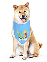 cheap -Dog Cat Dog Bandana Dog Bibs Scarf Triangle Bibs Accessories Dog Clothes Adjustable Blue Birthday Costume Husky Golden Retriever Corgi Cotton Letter & Number Casual / Sporty Cute