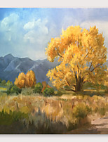 cheap -IARTS®Hand Painted Autumn Oil Painting   with Stretched Frame For Home Decoration