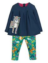 cheap -Kids Girls' Basic Geometric Long Sleeve Clothing Set Rainbow