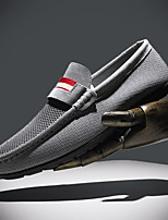 cheap -Men's Summer / Fall Casual / British / Preppy Daily Outdoor Loafers & Slip-Ons PU Non-slipping Wear Proof Black / Gray