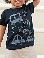 cheap -Kids Boys' Basic Print Short Sleeve Clothing Set Navy Blue