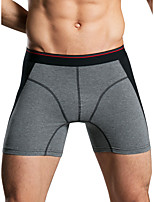 cheap -Men's Basic Boxers Underwear - Normal Low Waist Blue Red Gray M L XL
