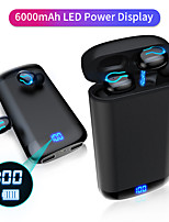 cheap -Q66 Wireless Bluetooth Earbuds HD Stereo Headphone Sports Waterproof Headset With Dual Mic and 6000mAh Battery Charge Case
