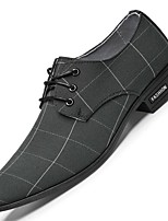 cheap -Men's Summer / Fall Daily Oxfords Canvas Non-slipping Black / Light Grey