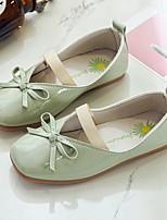 cheap -Girls' Flats Comfort PU Little Kids(4-7ys) / Big Kids(7years +) Walking Shoes Black / Pink / Green Summer / Fall
