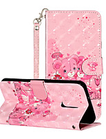 cheap -Case For LG K10(2018) K8(2018) K9(2018) G7 G7 ThinQ V40 G8 G8ThinQ  Stylo 4 5 Q Stylus Stylus4 Shockproof  Flip  Pattern Full Body Cases Butterfly  Animal  Flower PU Leather  TPU