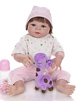 cheap -KEIUMI 22 inch Reborn Doll Baby & Toddler Toy Reborn Toddler Doll Baby Girl Gift Cute Lovely Parent-Child Interaction Tipped and Sealed Nails Full Body Silicone KUM23FS01-RS12 with Clothes and