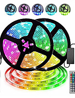 cheap -2x5M Light Sets RGB Strip Lights 300 LEDs SMD5050 10mm 1 44Keys Remote Controller 1 X 5A power adapter 1 set RGB Christmas New Year's Cuttable Decorative Christmas Wedding Decoration 12 V