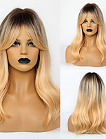 cheap -Synthetic Wig Body Wave With Bangs Wig Medium Length Synthetic Hair 20 inch Women's Fashionable Design Life Women Ombre