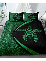 cheap -Home Textiles 3D Bedding Set  Duvet Cover with Pillowcase 2/3pcs Bedroom Duvet Cover Sets  Bedding Black Turtle