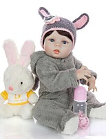 cheap -KEIUMI 22 inch Reborn Doll Baby & Toddler Toy Reborn Toddler Doll Baby Girl Gift Cute Washable Lovely Parent-Child Interaction Full Body Silicone KUM23FS04-WW21 with Clothes and Accessories for