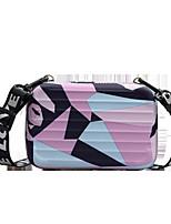 cheap -Women's PU Leather Crossbody Bag Leather Bag Color Block Blushing Pink / Orange / Gray
